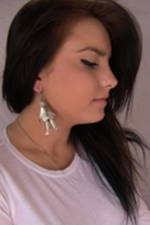 INDIA SILVER EARRINGS - back