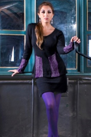 PURPLERAIN: TWO Pc. ALPACA SWEATER AND SKIRT. - front