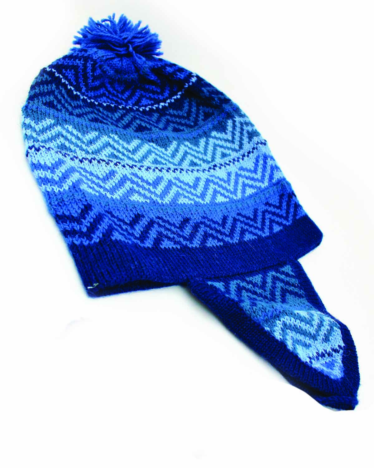AZURE ALPACA HAT- back