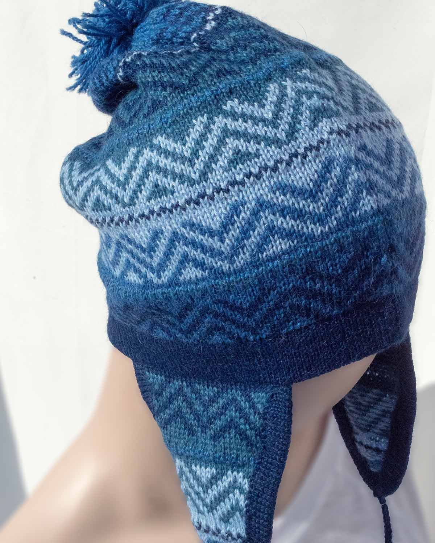AZURE ALPACA HAT- front