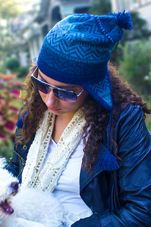 AZURE ALPACA WINTER HAT - back