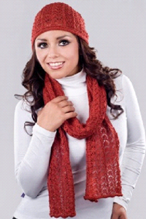 RESTLESS: TWO Pc. Beanie and Scarf- front