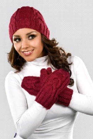 back-MARCEL: TWO Pc. Beanie and Mittens