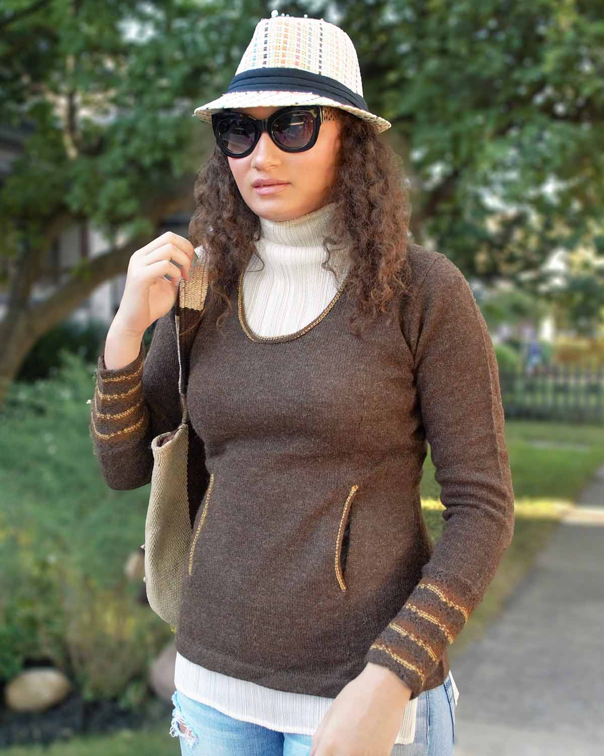 FINIAN ALPACA SWEATER - front