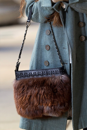 back-LAKSYA DAZZLING ALPACA FUR BAG