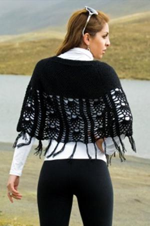 back-IRIS ALPACA SHAWLETTE
